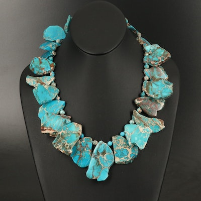 Jasper Necklace with Sterling Clasp