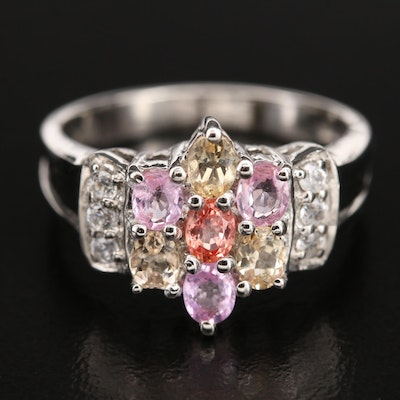 Sterling Ring Including Sapphire, Zircon and Topaz
