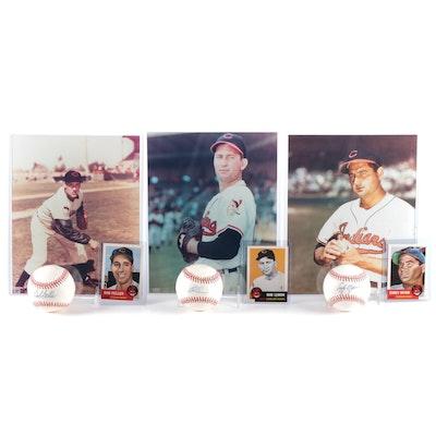 Cleveland Indians Greats Bob Feller, Bob Lemon, Early Wynn Signed Balls, More