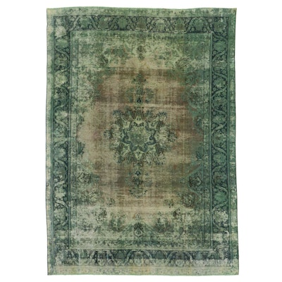 9' x 13' Hand-Knotted Persian Overdyed Area Rug