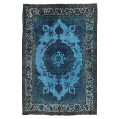 6'6 x 9'7 Hand-Knotted Persian Overdyed Area Rug