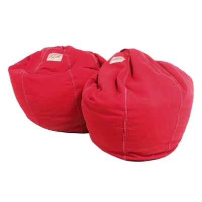 Pair of The Land of Nod Bean Bag Chairs