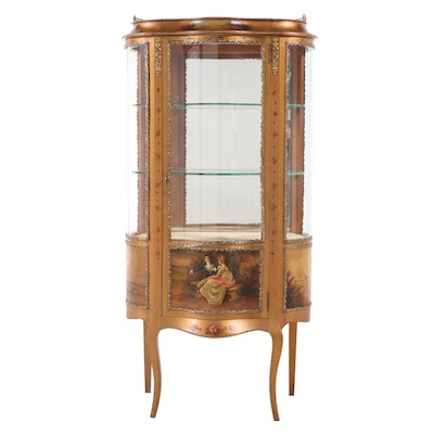 Louis XV Style Giltwood and Paint-Decorated Vitrine