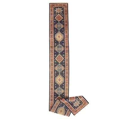 2'6 x 19'8 Hand-Knotted Indo-Caucasian Kazak Carpet Runner