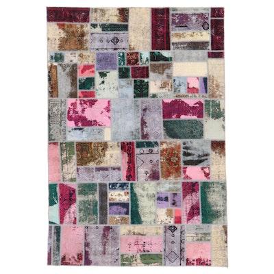 6'5 x 9'4 Handmade Persian Patchwork Area Rug