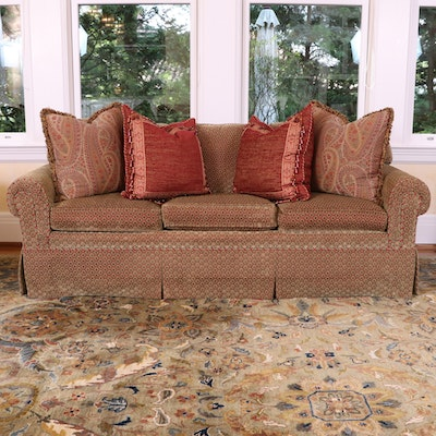 Kravet Furniture Down-Filled Sofa With Accent Pillows