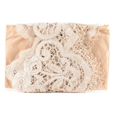 Oh de Saedeleer Belgian Lace Partial Bolt, Mid to Late 20th Century