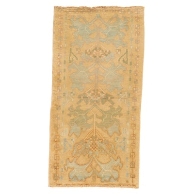 3'9 x 7'7 Hand-Knotted Turkish Donegal Style Oushak Area Rug