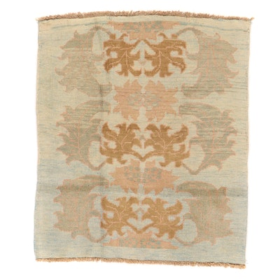 4'5 x 5'4 Hand-Knotted Turkish Oushak Donegal Area Rug