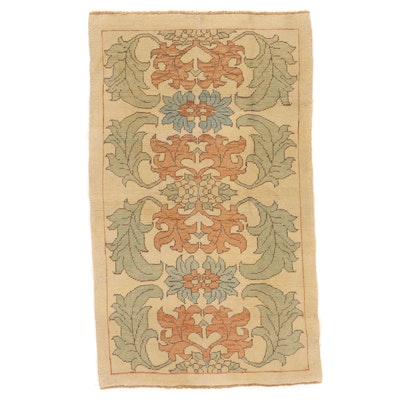 4'3 x 7'1 Hand-Knotted Turkish Donegal Style Oushak Area Rug