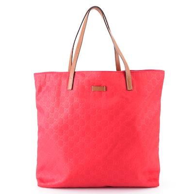 Gucci Shopper Tote in Red GG Nylon