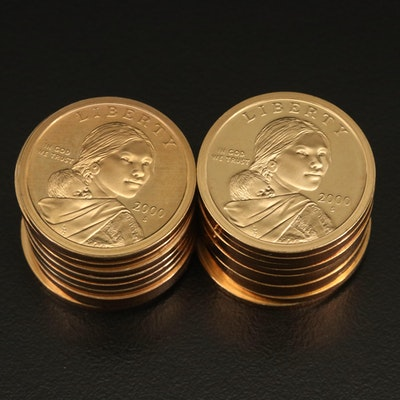 Roll of Twenty 2000-S Sacagawea Dollar Proof Coins