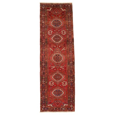 3'11 x 13'3 Hand-Knotted Persian Heriz Long Rug