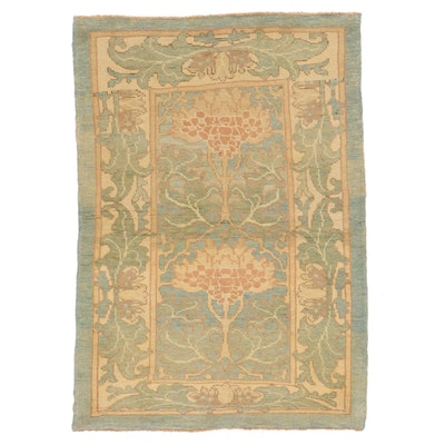 4'4 x 6'2 Hand-Knotted Turkish Donegal Area Rug