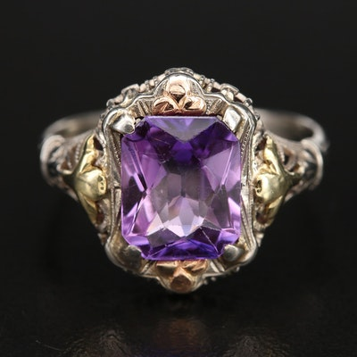 10K Sapphire Solitaire Ring