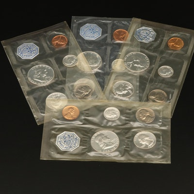 Group of Four U.S. Mint Proof Sets from 1961-1964