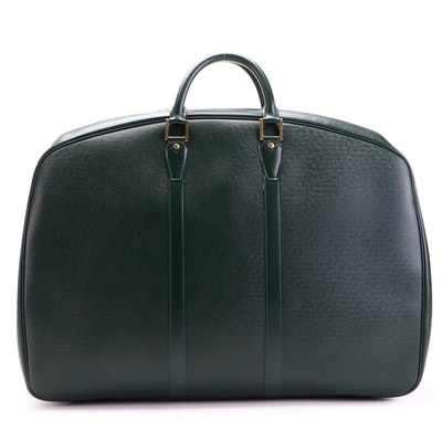 Louis Vuitton Helanga 1 Poche Travel Bag in Borneo Green Taïga Leather