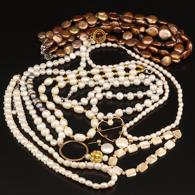 Jewelry Grouping Including Silpada, Sterling Rhinestone and Mother of Pearl