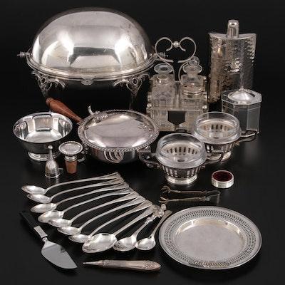 Silver Tone Metal Flatware, Serveware, and Table Accessories
