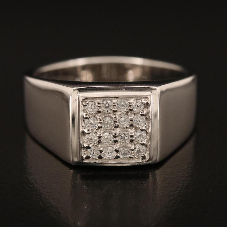 Sterling Zircon Ring