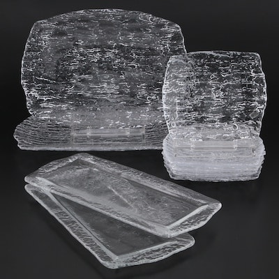 Pebble Glass Serving Trays and Snack Platters