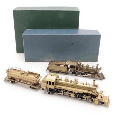 North West Short Line, United Scale Models Brass HO Scale Model RR Locomotives
