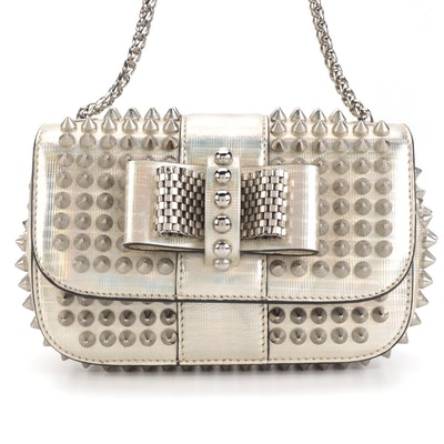 Christian Louboutin Sweet Charity Bag in Embellished Holographic Patent Leather