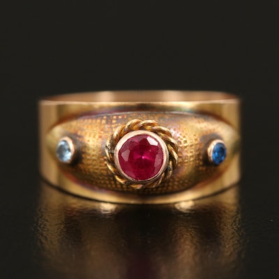 14K Ruby and Spinel Ring