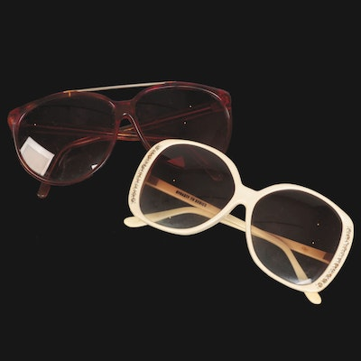 Dynasty TV Series Oversized Embellished Ivory Sunglasses with Other Sunglasses