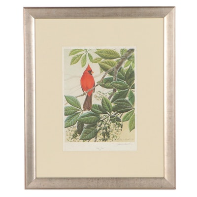 "John Ruthven Offset Lithograph ""Early Bird,"" Late 20th Century"