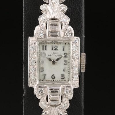 14K Lady Hamilton 1.00 CTW Diamond Wristwatch
