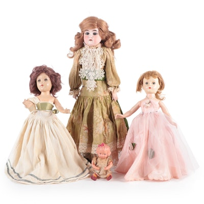 """Edmund Ulrich Steiner Bisque and Leather 21"""" Doll and More"""