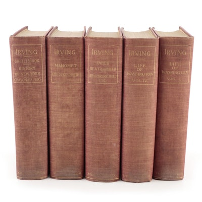 """Illustrated Sterling Edition """"The Works of Washington Irving"""" Partial Set"""
