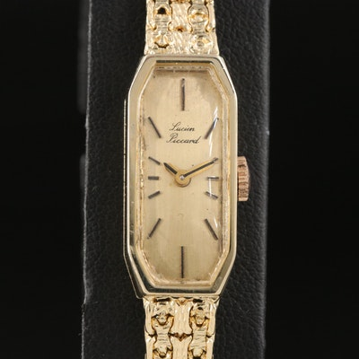 14K Lucien Piccard Stem Wind Wristwatch