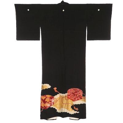Three Mon Hanabishi, Noshi, Hanna, and Other Patterned Tomesode Kimono