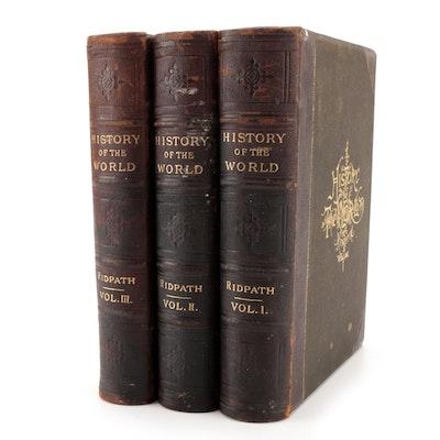 """Cyclopædia of Universal History"" Complete Three-Volume Set, Late 19th Century"