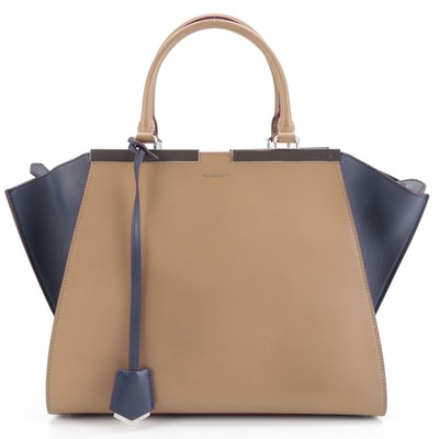 Fendi Petite 3Jours Two-Way Bag in Multicolor Leather