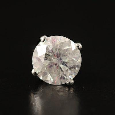 Single 14K 1.06 CT Diamond Earrings