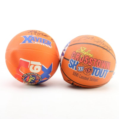 Skip Prosser, Bob Huggins Signed Crosstown Shootout Basketballs