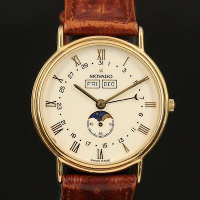 Movado Triple Calendar Moonphase Quartz Wristwatch