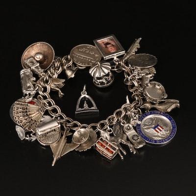 Charm Bracelet Including Loose Charms