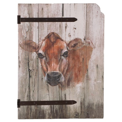 Offset Lithograph of Jersey Cow, 21st Century