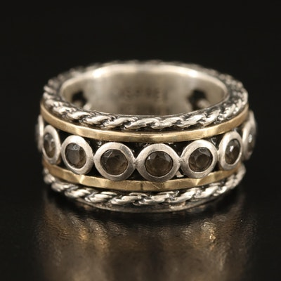Or Paz Sterling Topaz Spinner Ring with 14K Accent