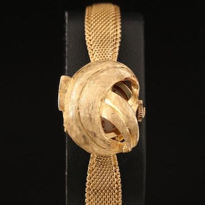 Wittnauer 14K Gold Hidden Dial Wristwatch