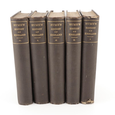 """""""The History of England"""" Partial Set by David Hume, Mid to Late 19th Century"""