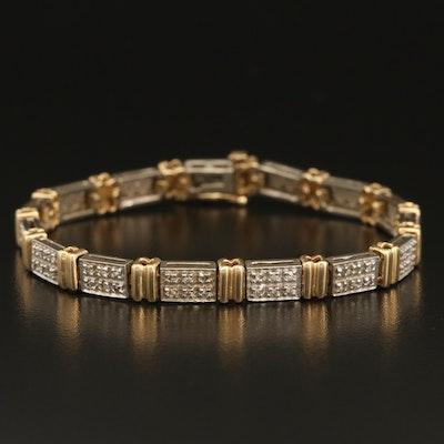 10K Two-Tone 1.20 CTW Diamond Bracelet