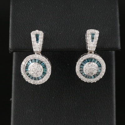Sterling Silver 1.00 CTW Diamond Earrings