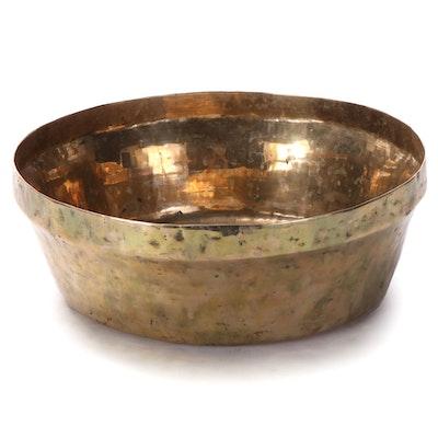 Hammered Brass Centerpiece Bowl