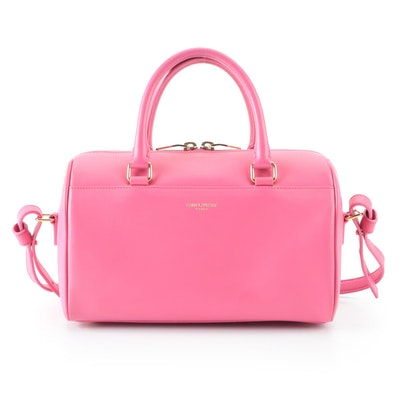 Saint Laurent Classic Baby Duffle Bag in Pink Leather