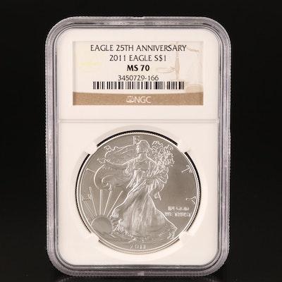 NGC Graded MS70 2011 U.S. Silver Eagle